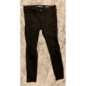 Hollister Black Ripped Jeggings